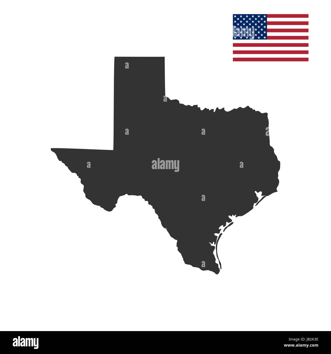 Stock Vector Map Of The U S State Of Texas