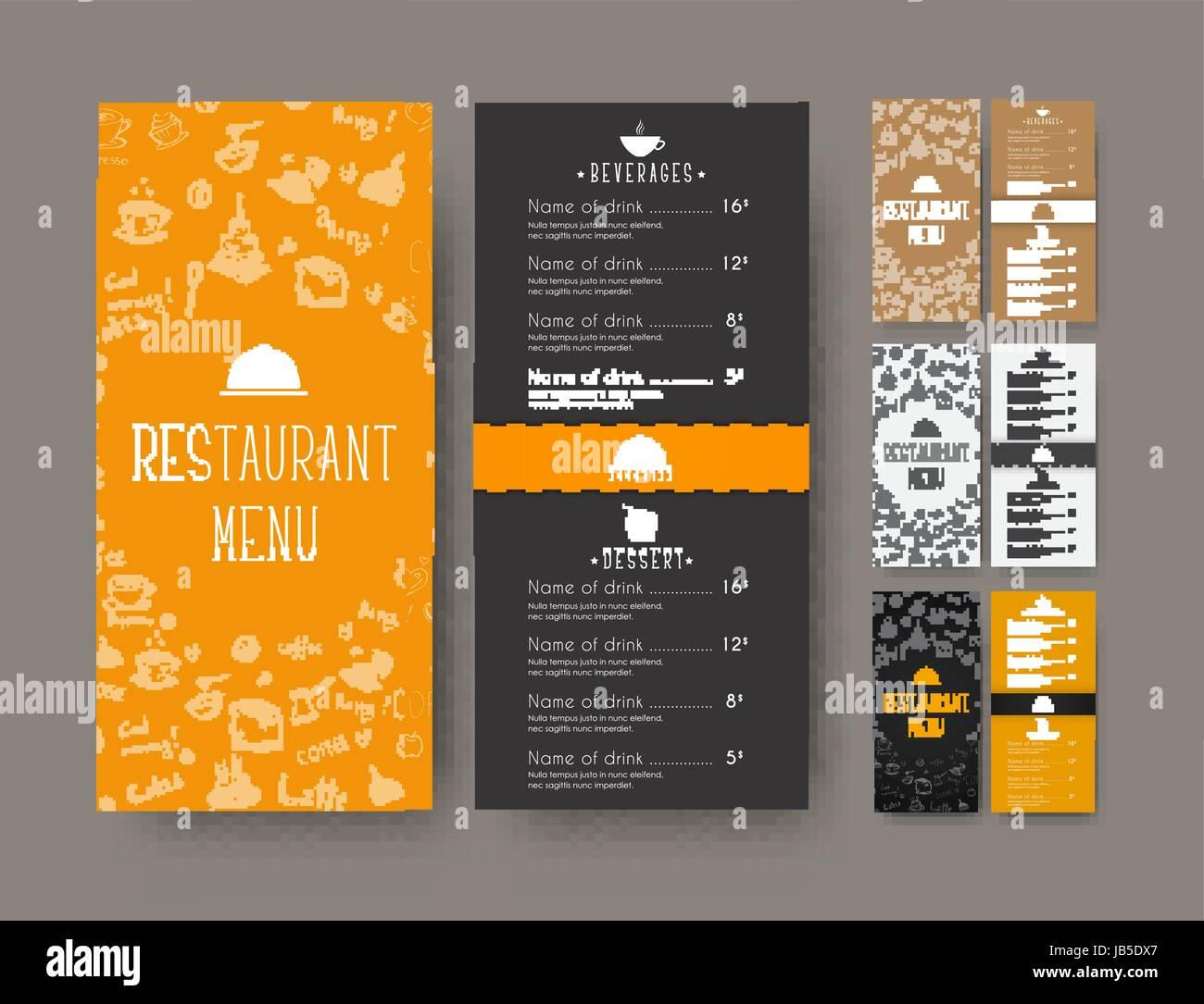 Set Of Coffee Narrow Menu For A Cafe Or Restaurant A Flyer - Menu brochure template