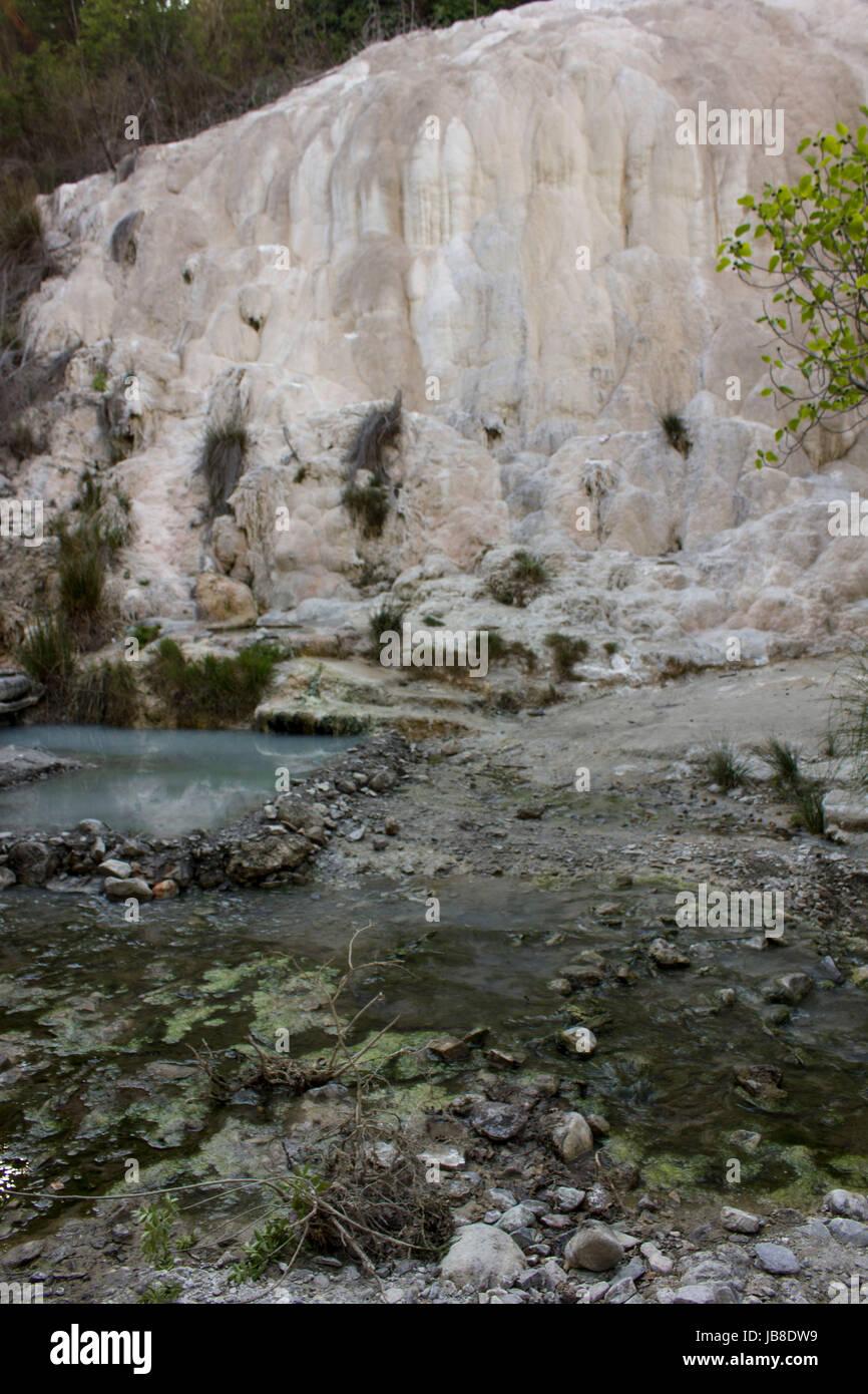 BAGNI SAN FILIPPO, ITALY - JUNE 2 2017: Fosso Bianco rock ...