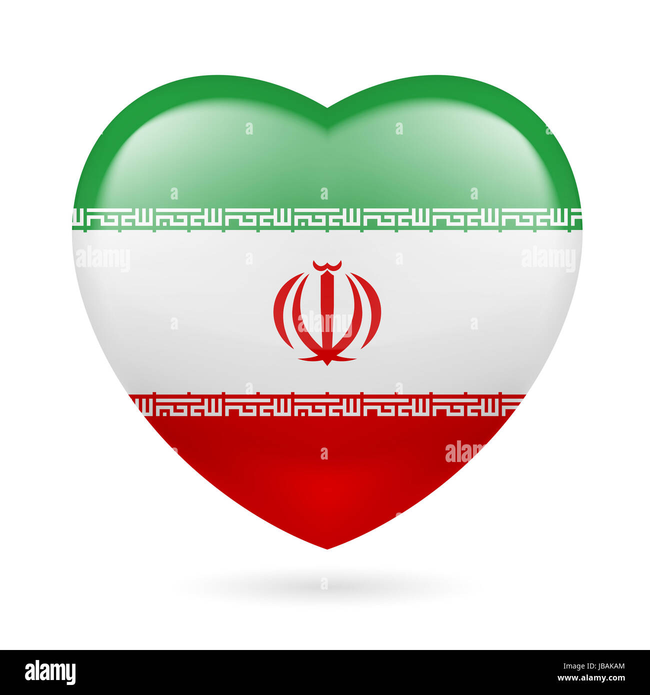 Heart with iranian flag colors i love iran stock photo for Iran flag coloring page