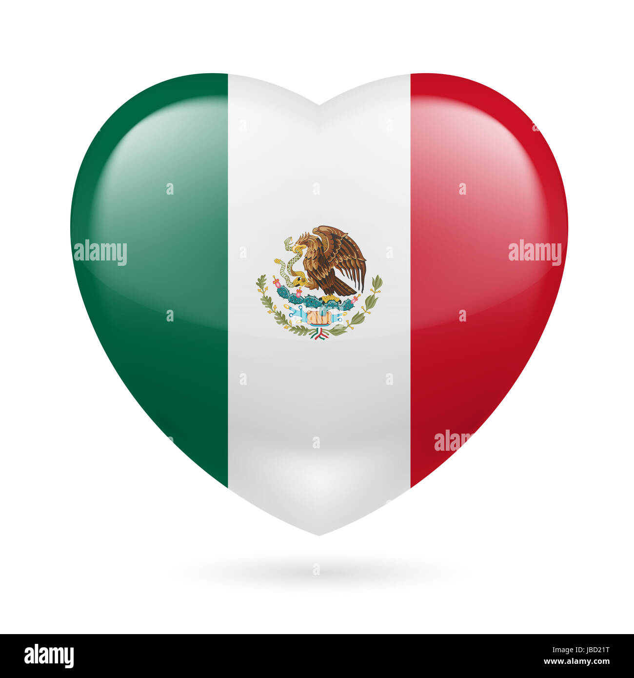heart with mexican flag colors i love mexico stock photo royalty
