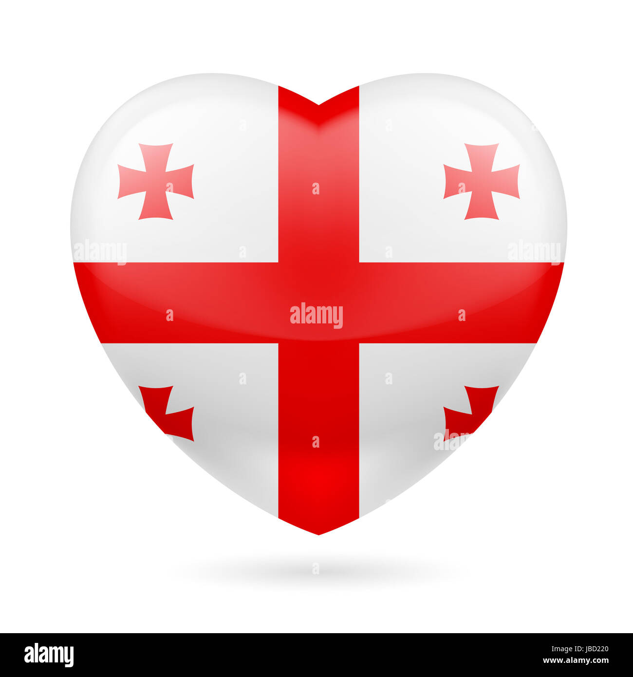 Heart with Georgian flag colors I love Georgia Stock Photo
