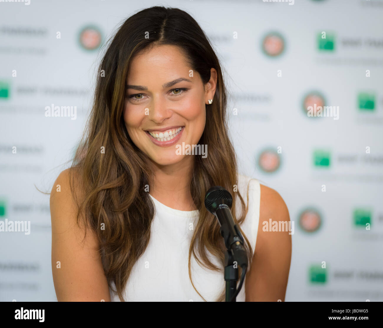 PARIS, FRANCE - JUNE 8 : Ana Ivanovic at the 2017 Roland ...