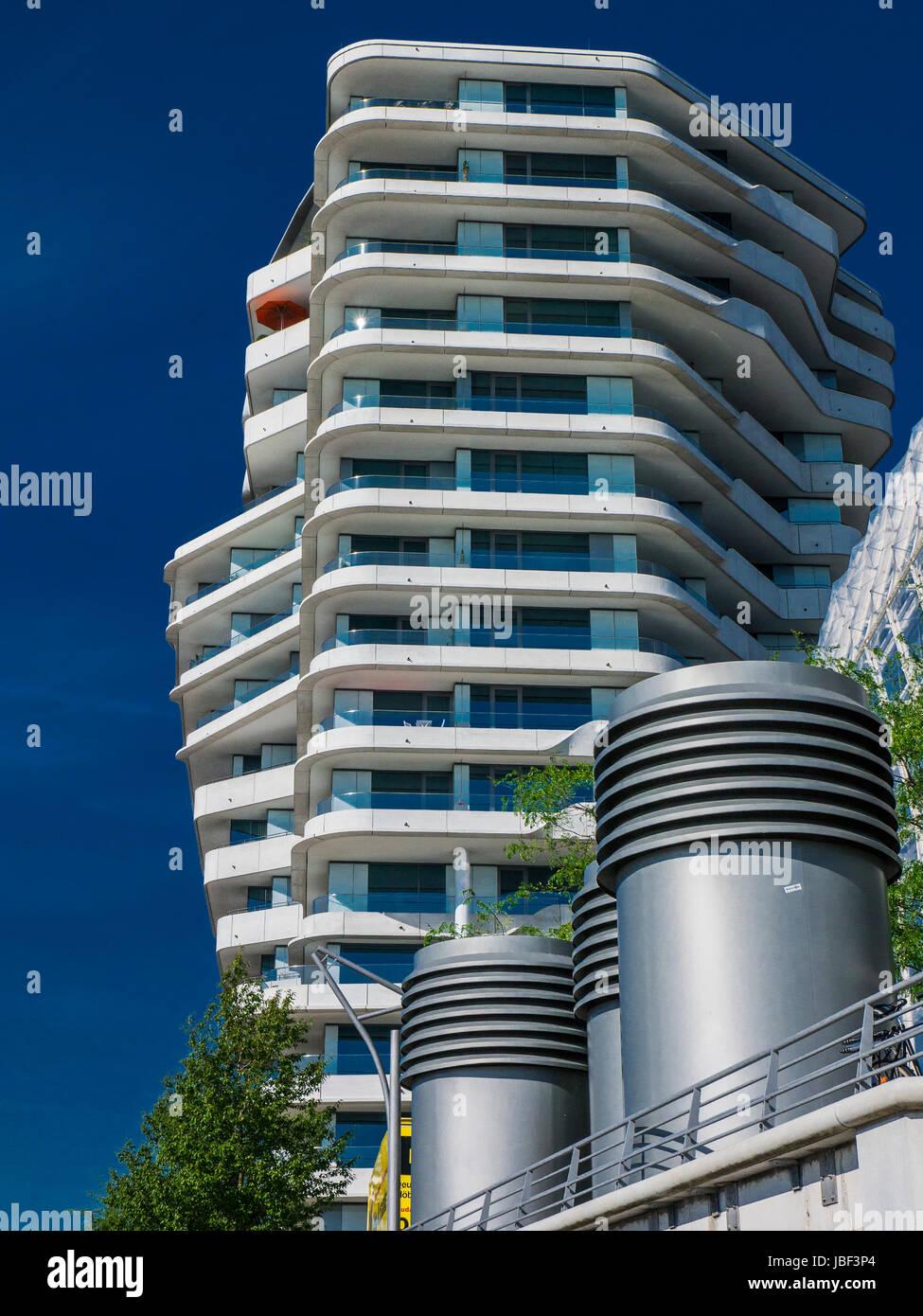 Marco-Polo-Tower in Hamburg Hafencity, Germany Stock Photo ...