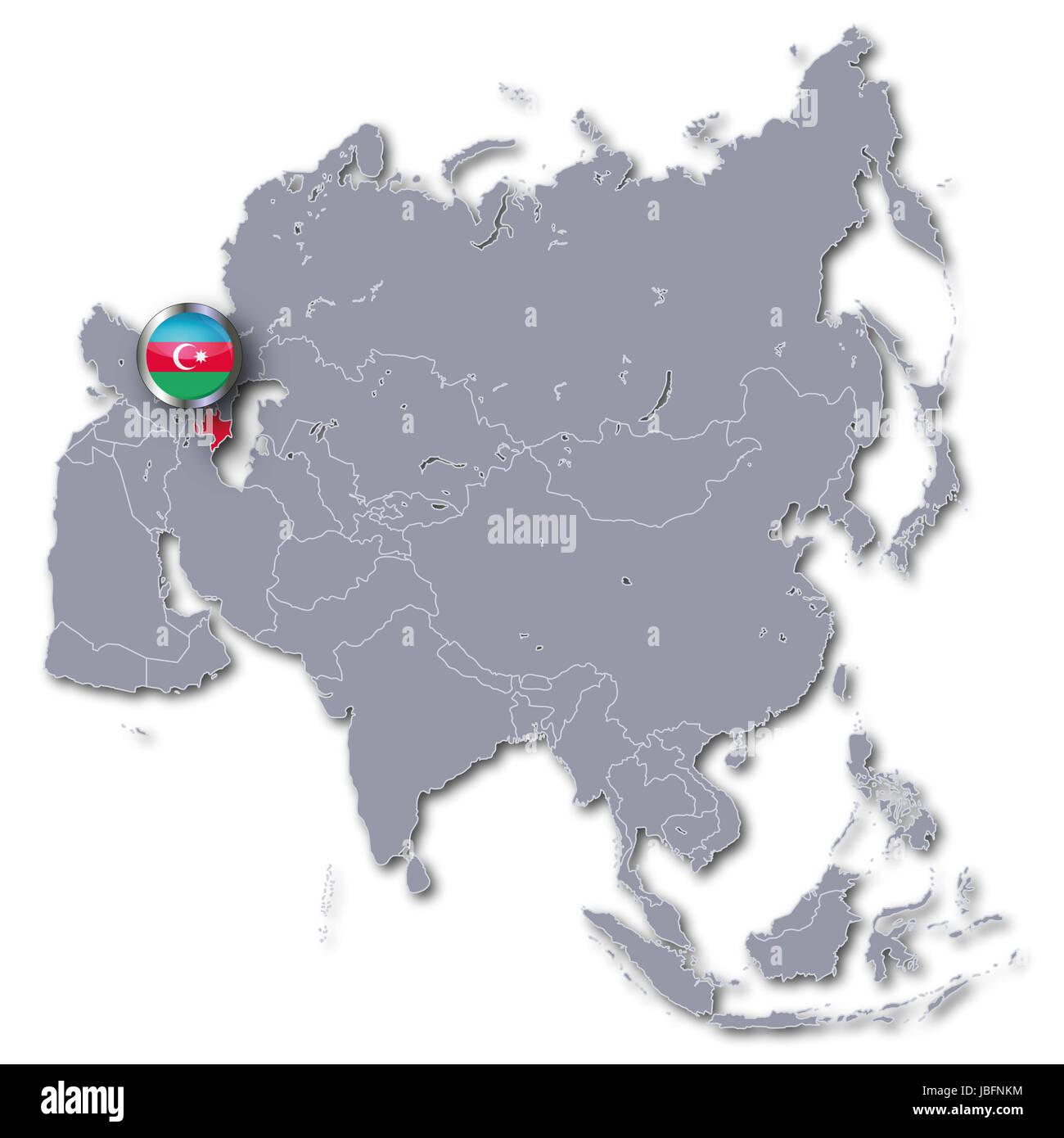 asia map with azerbaijan Stock Photo Royalty Free Image 144790456