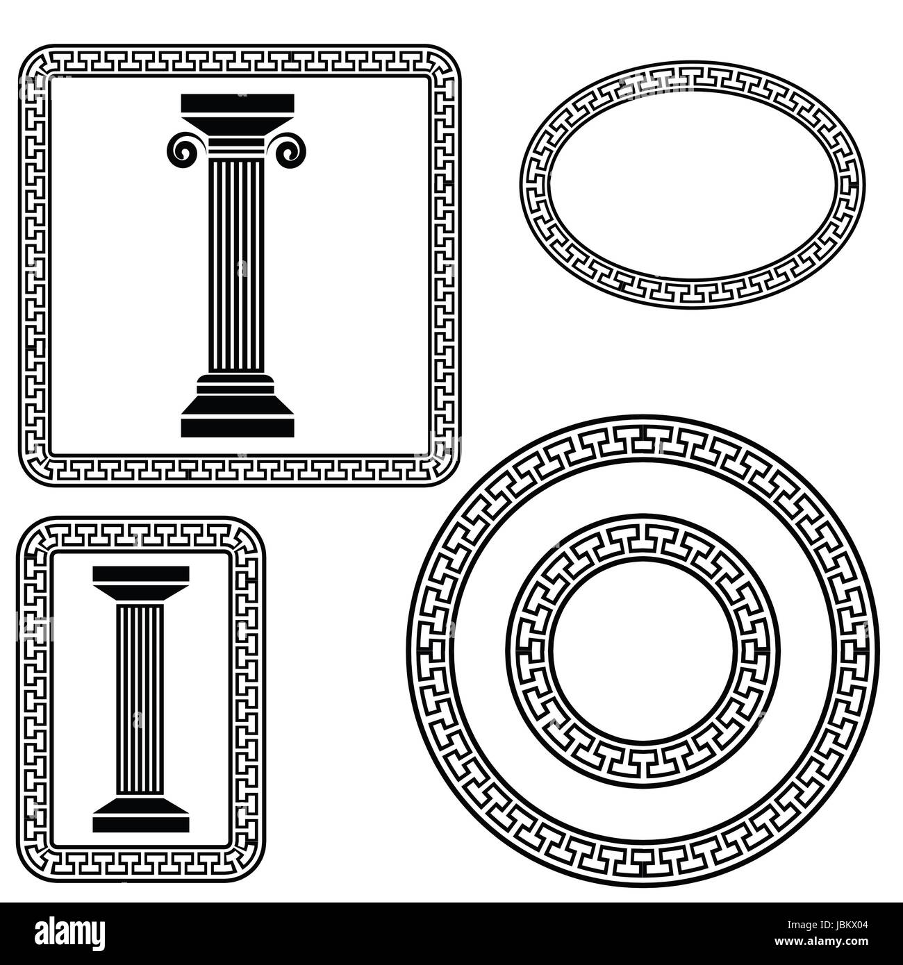 Colorful illustration with greek symbols on a white background for colorful illustration with greek symbols on a white background for your design buycottarizona