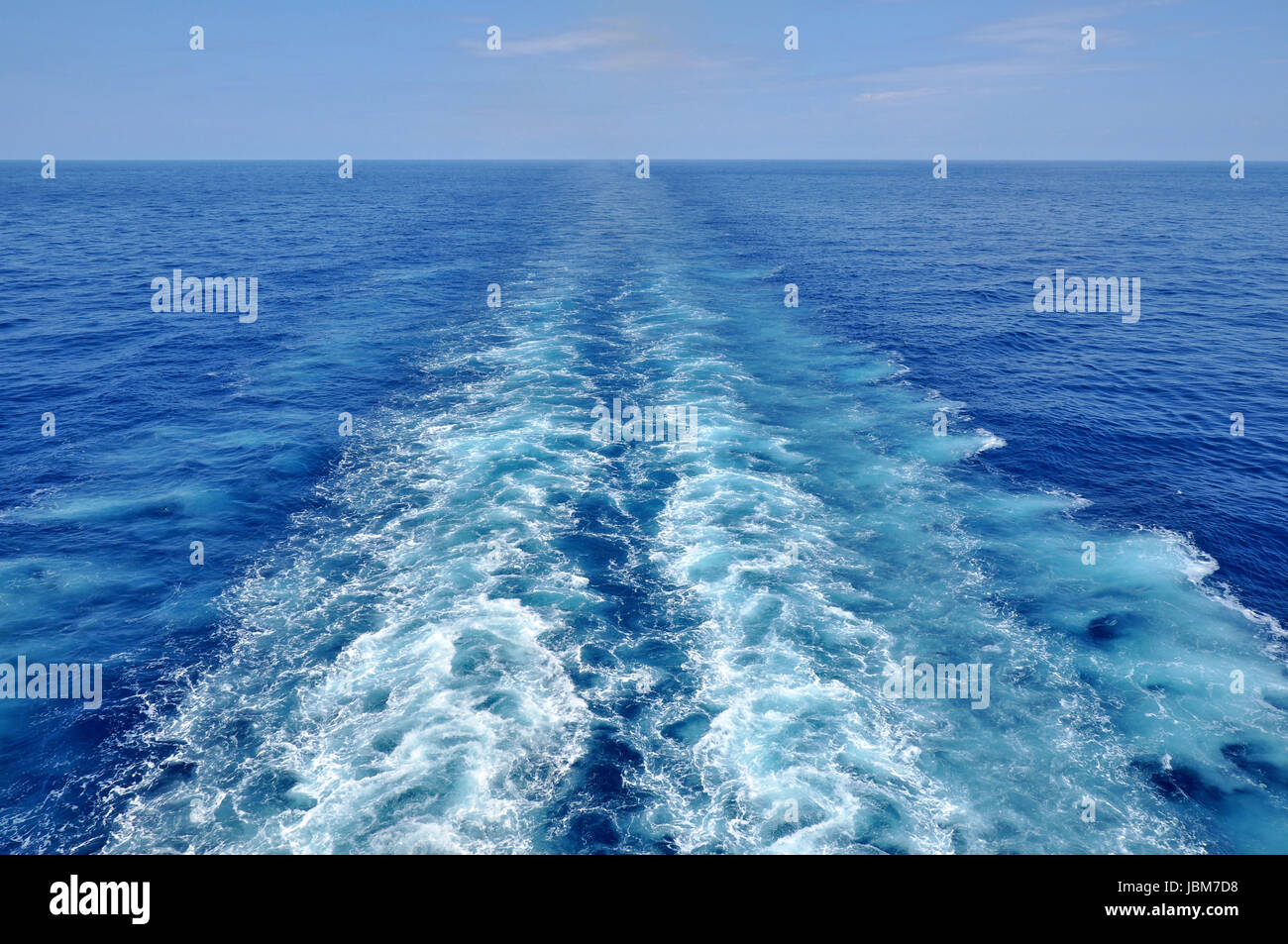 Stern Wave Of A Cruise Ship At Full Speed Stock Photo Royalty - Cruise ship speed