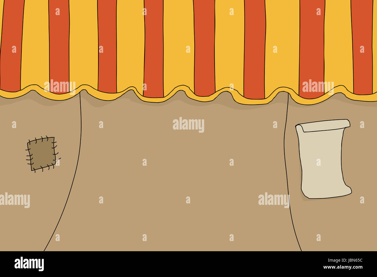 Old orange circus tent with patch and poster & Old orange circus tent with patch and poster Stock Photo Royalty ...