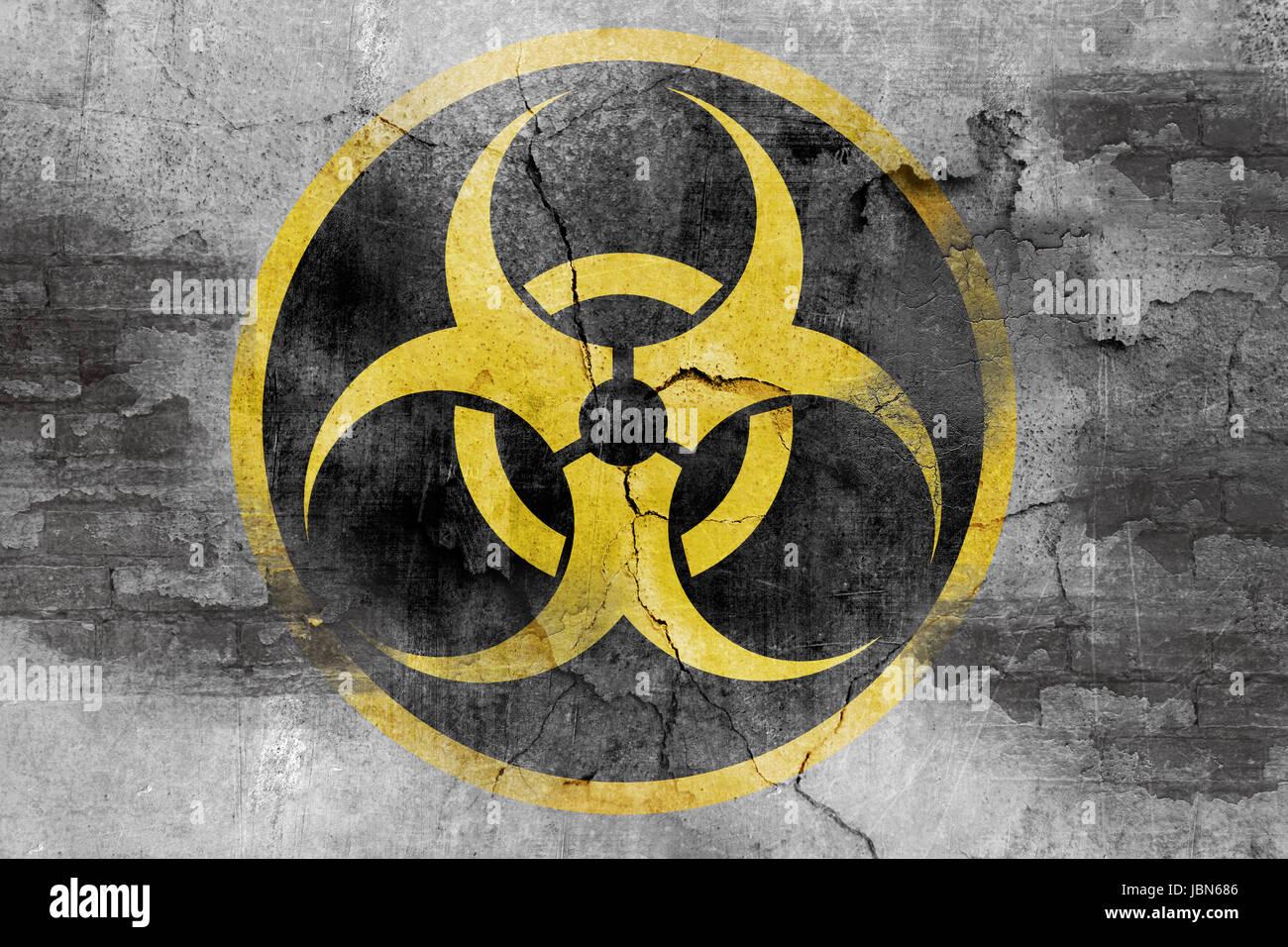 Biohazard symbol on concrete wall stock photo royalty free image biohazard symbol on concrete wall buycottarizona
