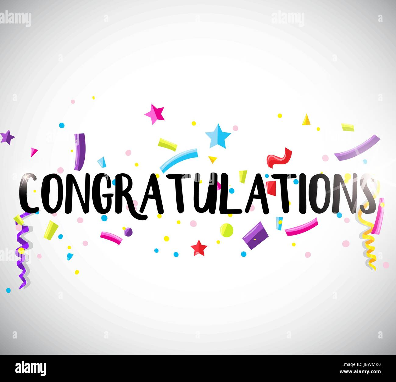 Congratulations Card Template With Ribbons Illustration  Congratulations Card Template