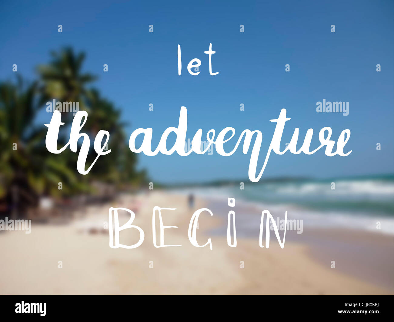Inspiration Quotes The Adventure Begins Life Style Inspiration Quotes Lettering Stock