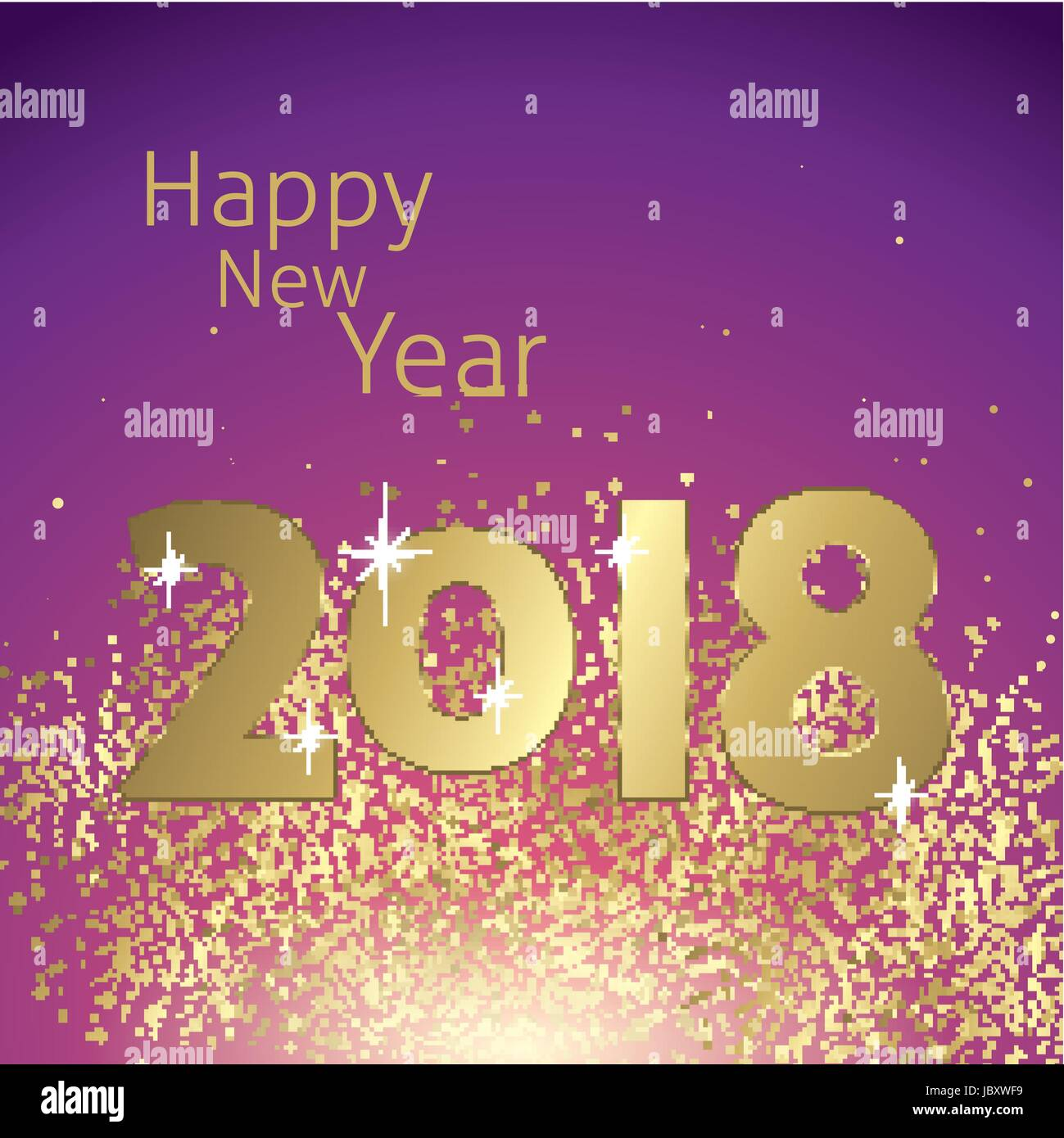 Happy new year 2018 greeting card vector stock vector art happy new year 2018 greeting card vector kristyandbryce Images