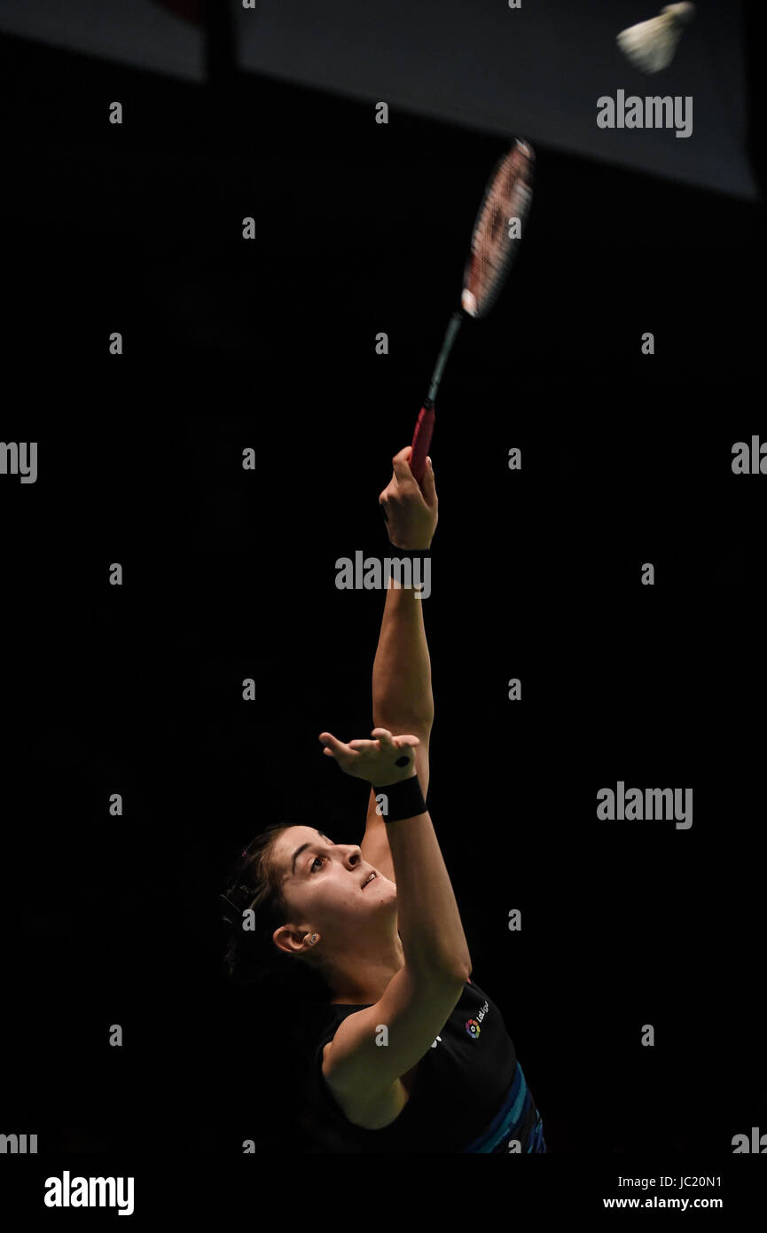 Jakarta Jakarta 13th June 2017 Spain s Carolina Marin returns