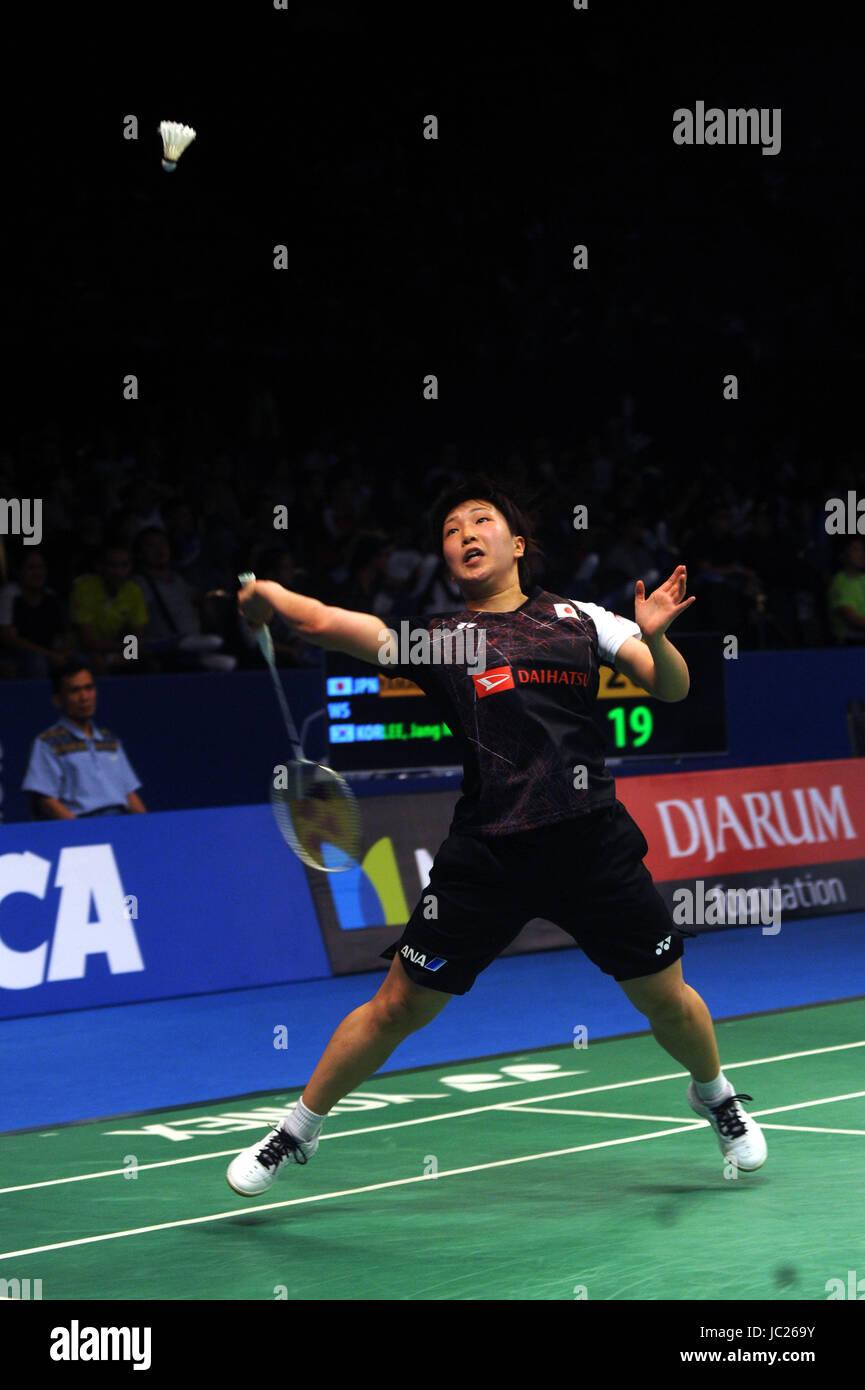 JAKARTA INDONESIA JUNE 13 Akane Yamaguchi of Japan pete