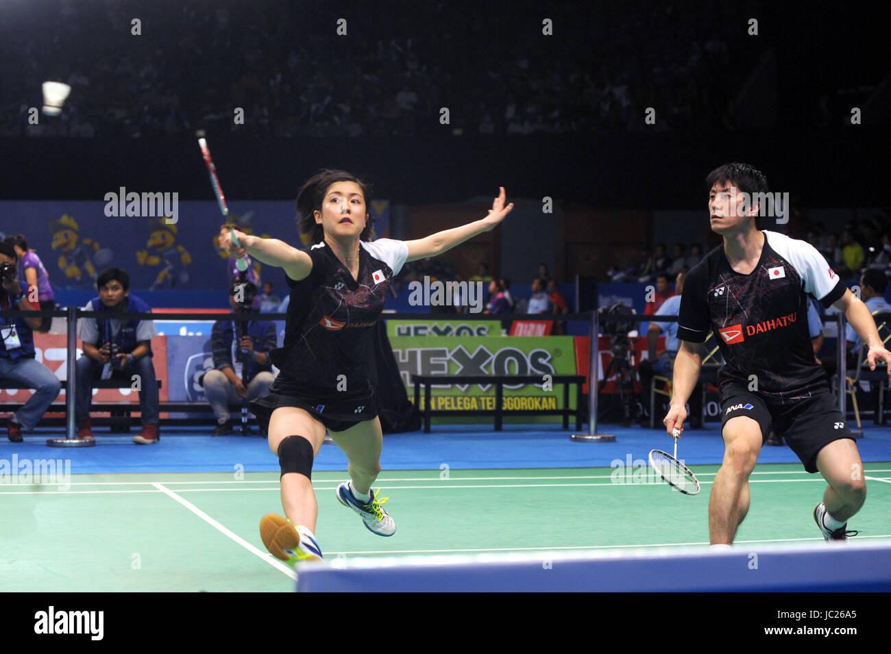 JAKARTA INDONESIA JUNE 13 Kenta Kazuno Ayane Kurihara of
