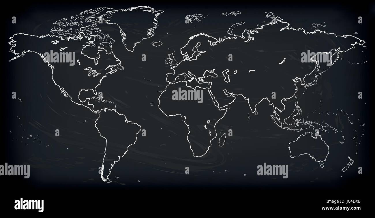 Vector blank dark grey black similar world map isolated on white vector blank dark grey black similar world map isolated on white background monochrome worldmap template website design cover annual reports infog gumiabroncs Images