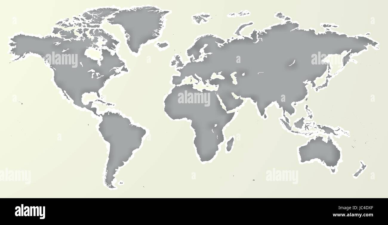 Vector blank grey paper cut out similar world map isolated on vector blank grey paper cut out similar world map isolated on white background monochrome worldmap template website design cover annual reports info publicscrutiny Image collections