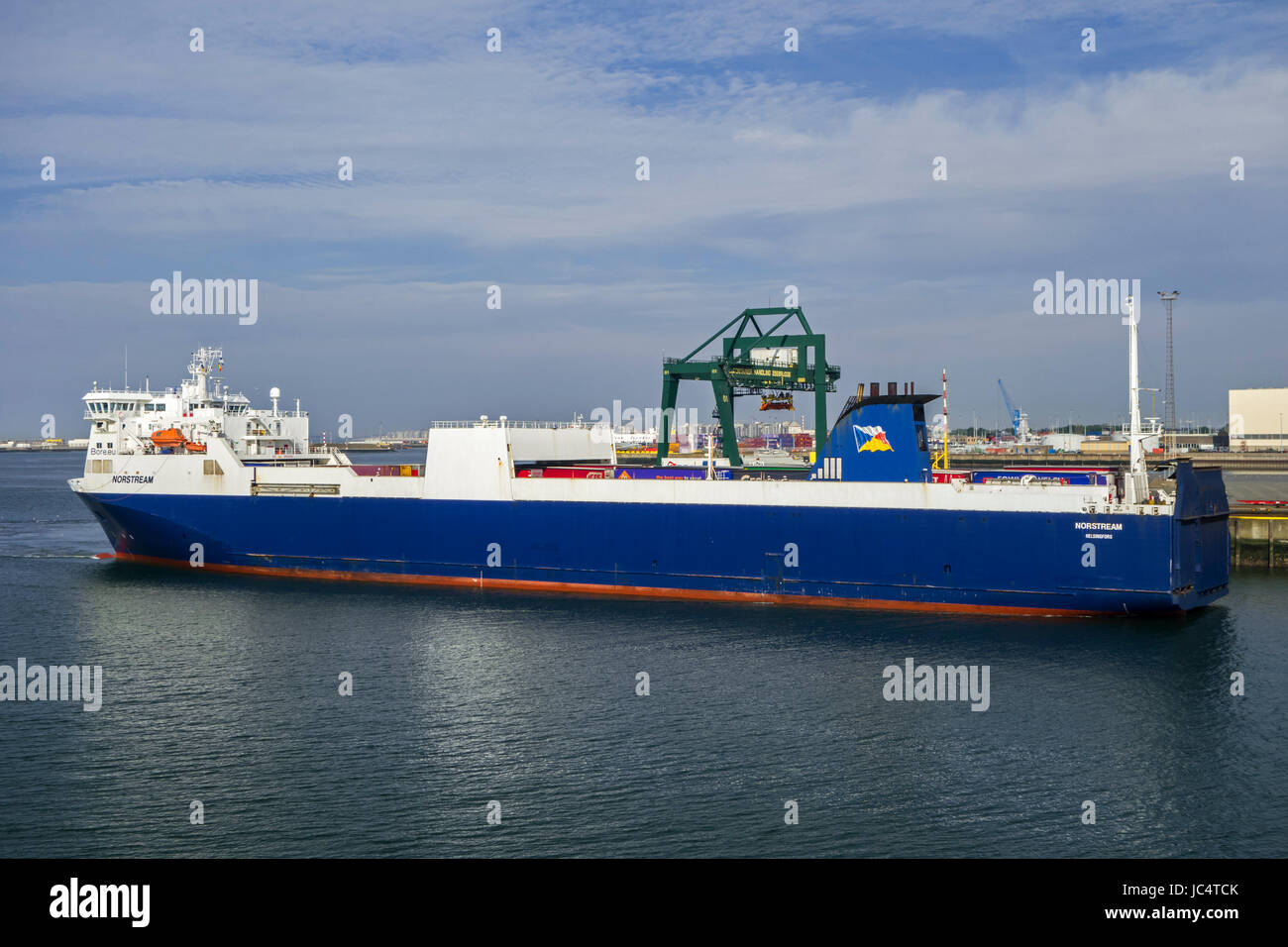 Ms norstream freight ferry ro ro cargo ship in the port of stock photo 145165795 alamy - Where is zeebrugge ferry port ...
