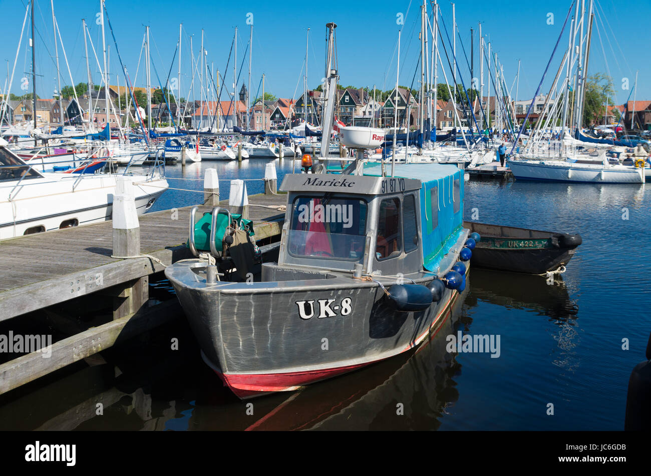 old fishing boat with Urker registration number. Urk has by far ...
