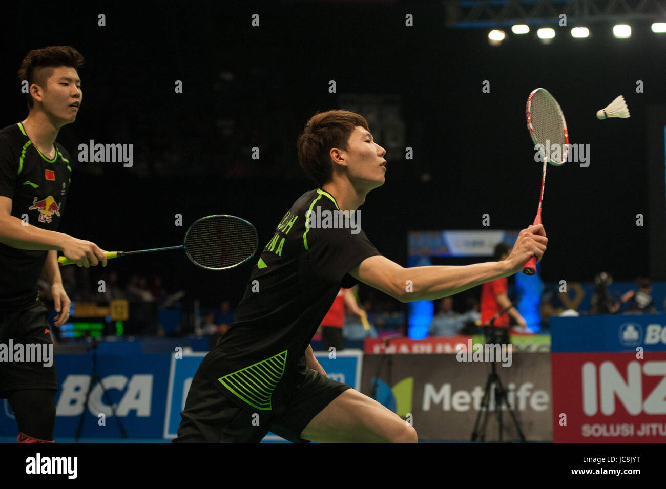 Jakarta Indonesia 14th June 2017 Liu Yuchen and Li Junhui R