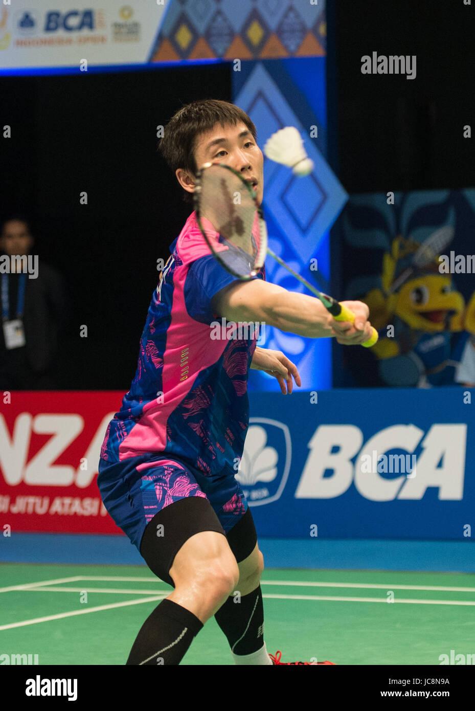 JAKARTA June 14 2017 Xinhua Son Wan Ho of South