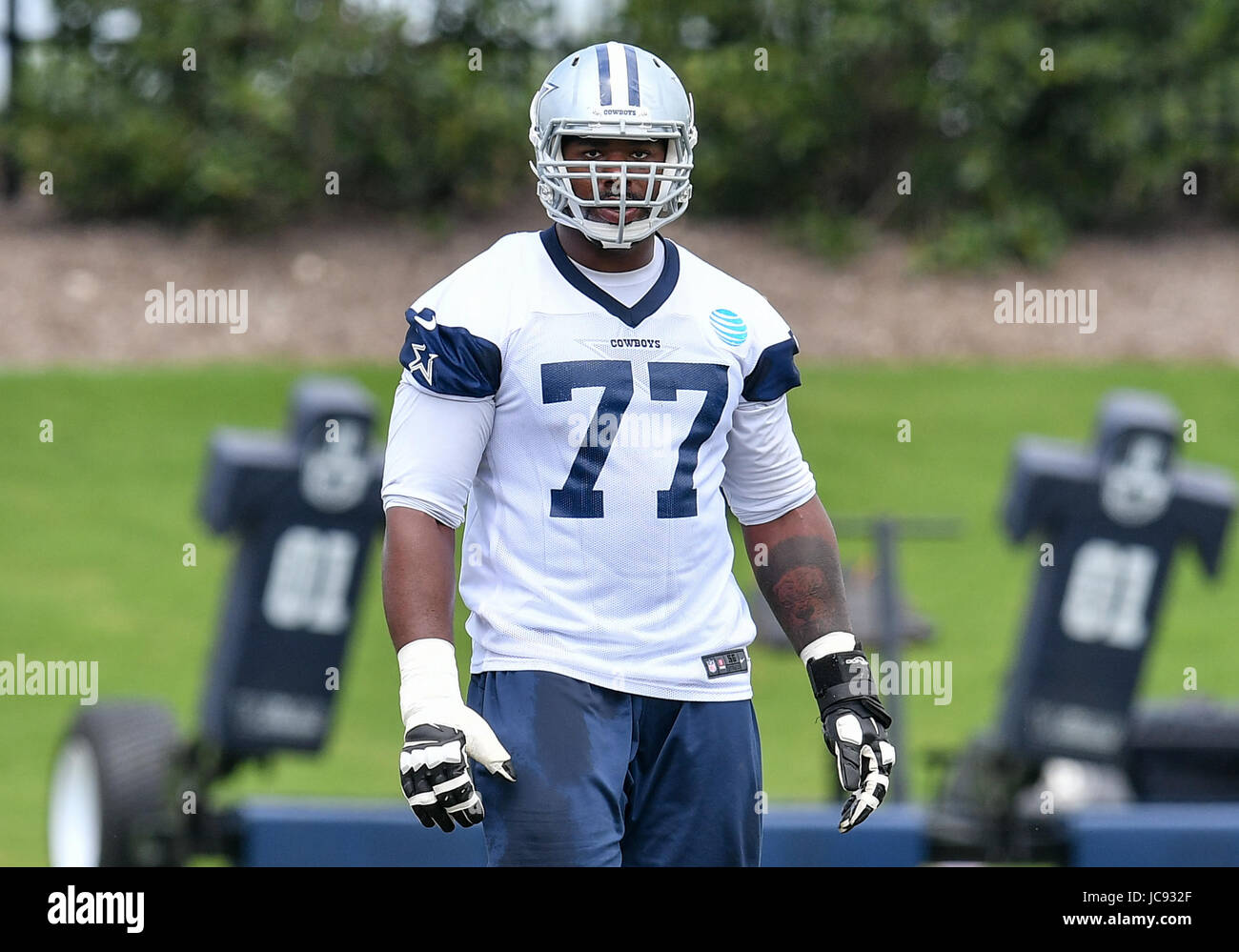 June 14th 2017 Dallas Cowboys tackle Tyron Smith 77 during a