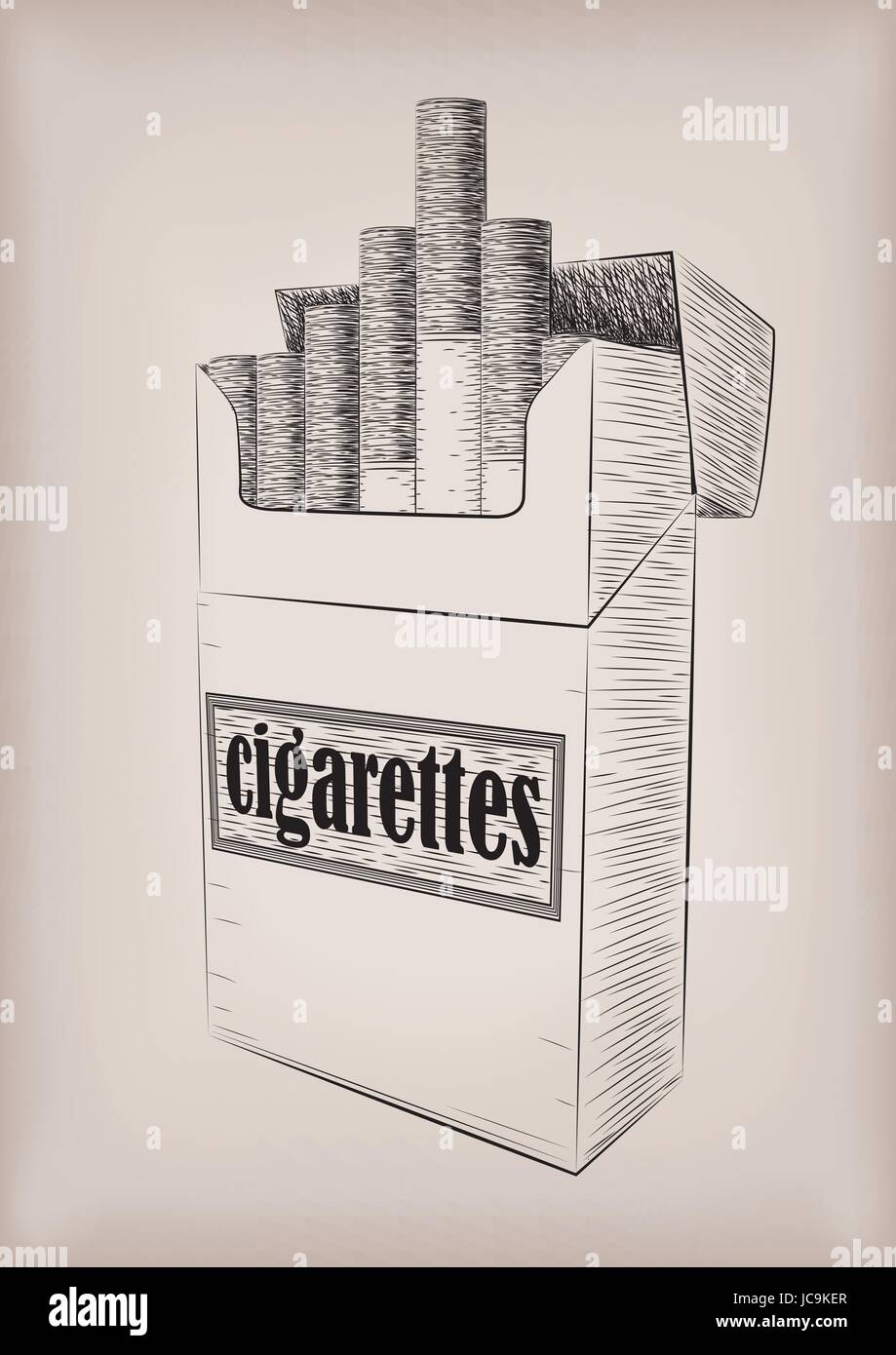 Drawing Vertical Lines In Html : Cigarettes cigarette pack cardboard box full smoking sign