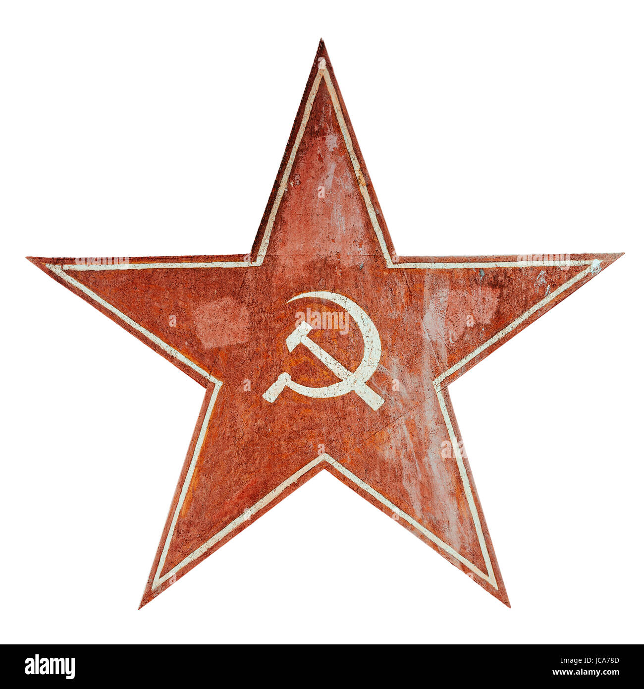 Red ussr communism symbol with hammer and sickle aged metal plate red ussr communism symbol with hammer and sickle aged metal plate isolated on white biocorpaavc