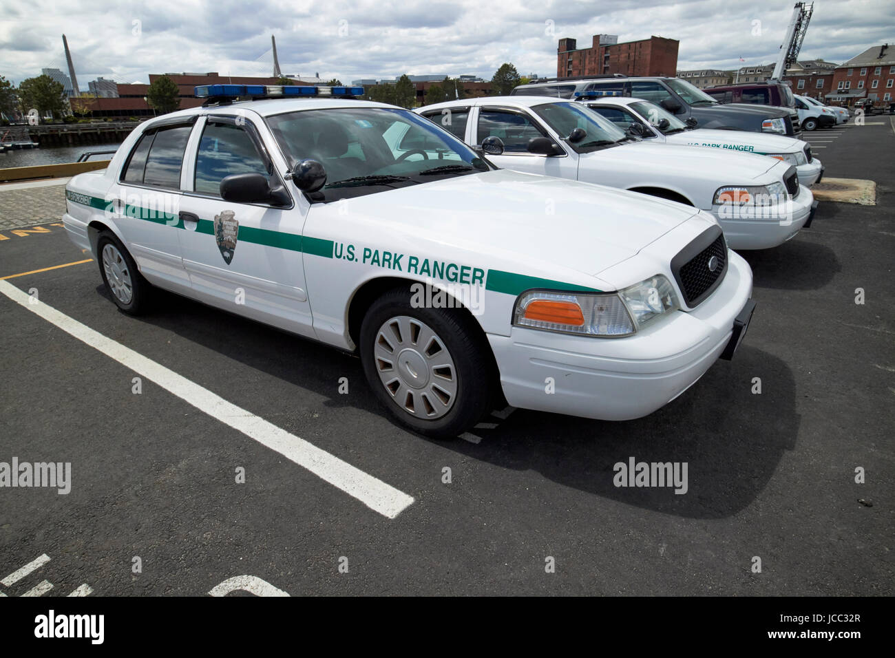 Us national park service u s park ranger ford crown vic vehicle boston usa stock image