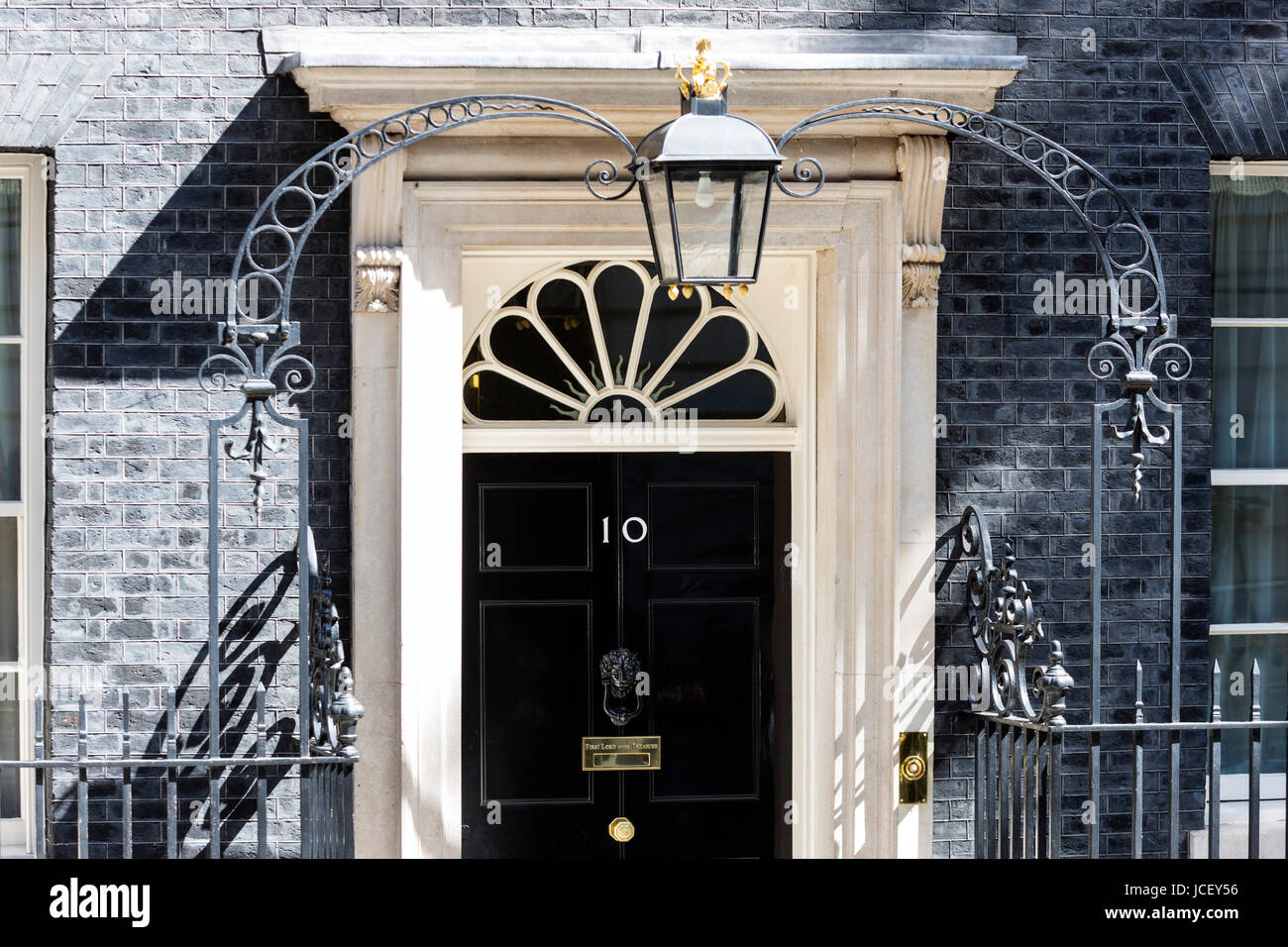 Black front door of No 10 Downing Street Whitehall London. The seat of the British Prime Minister & Black front door of No 10 Downing Street Whitehall London. The ... pezcame.com