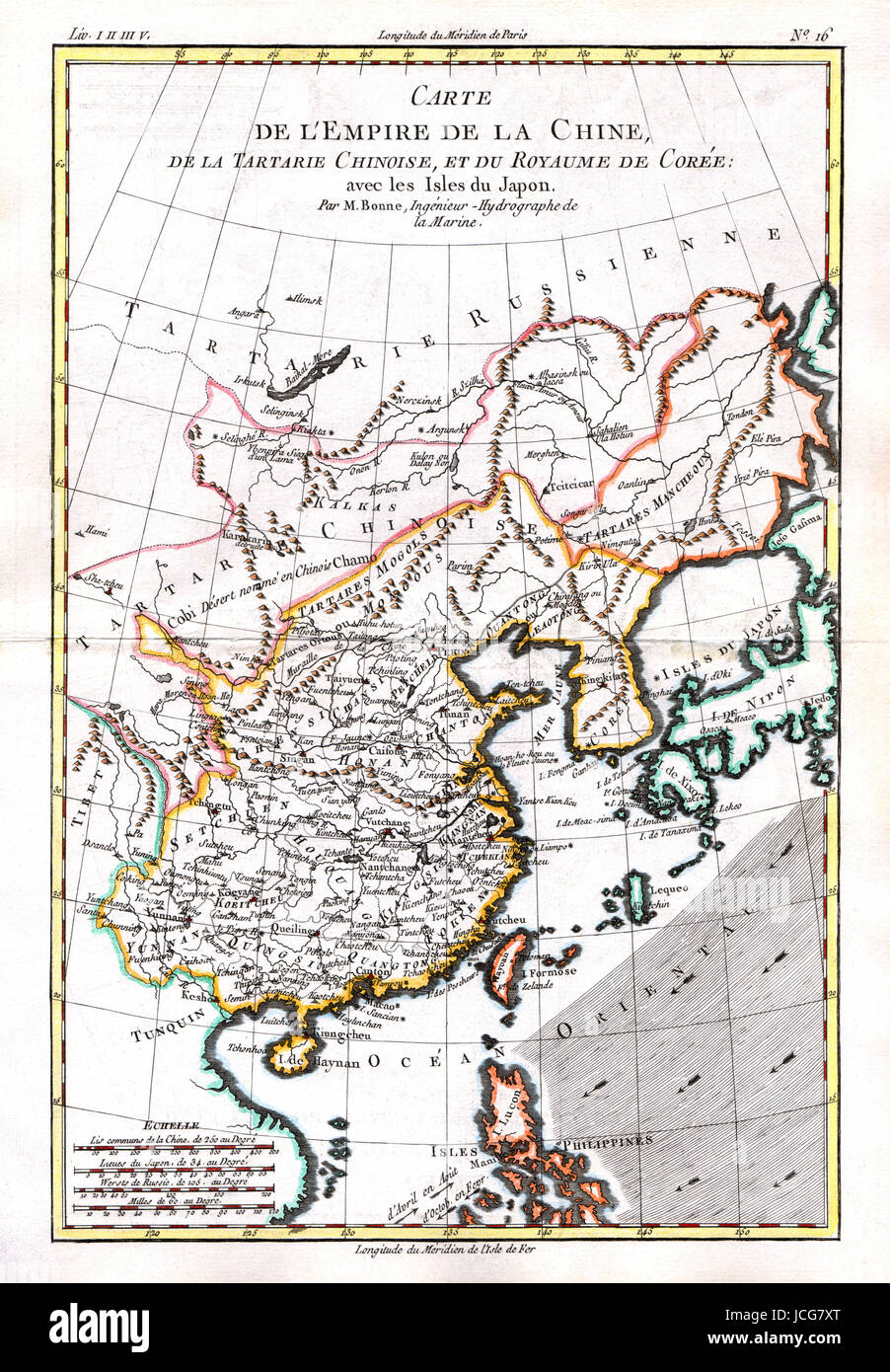 1779 bonne map of the far east showing the empire of china southern 1779 bonne map of the far east showing the empire of china southern japan taiwan as formosa canton hong kong macau pekin hainan and other places gumiabroncs Image collections