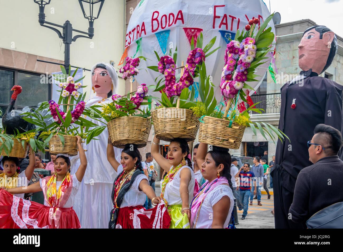 Typical Regional Mexican Wedding Parade know as Calenda de Bodas ...