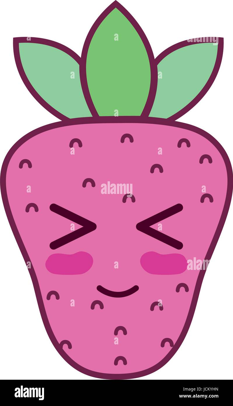 Strawberry clipart kawaii - Pencil and in color strawberry clipart ...