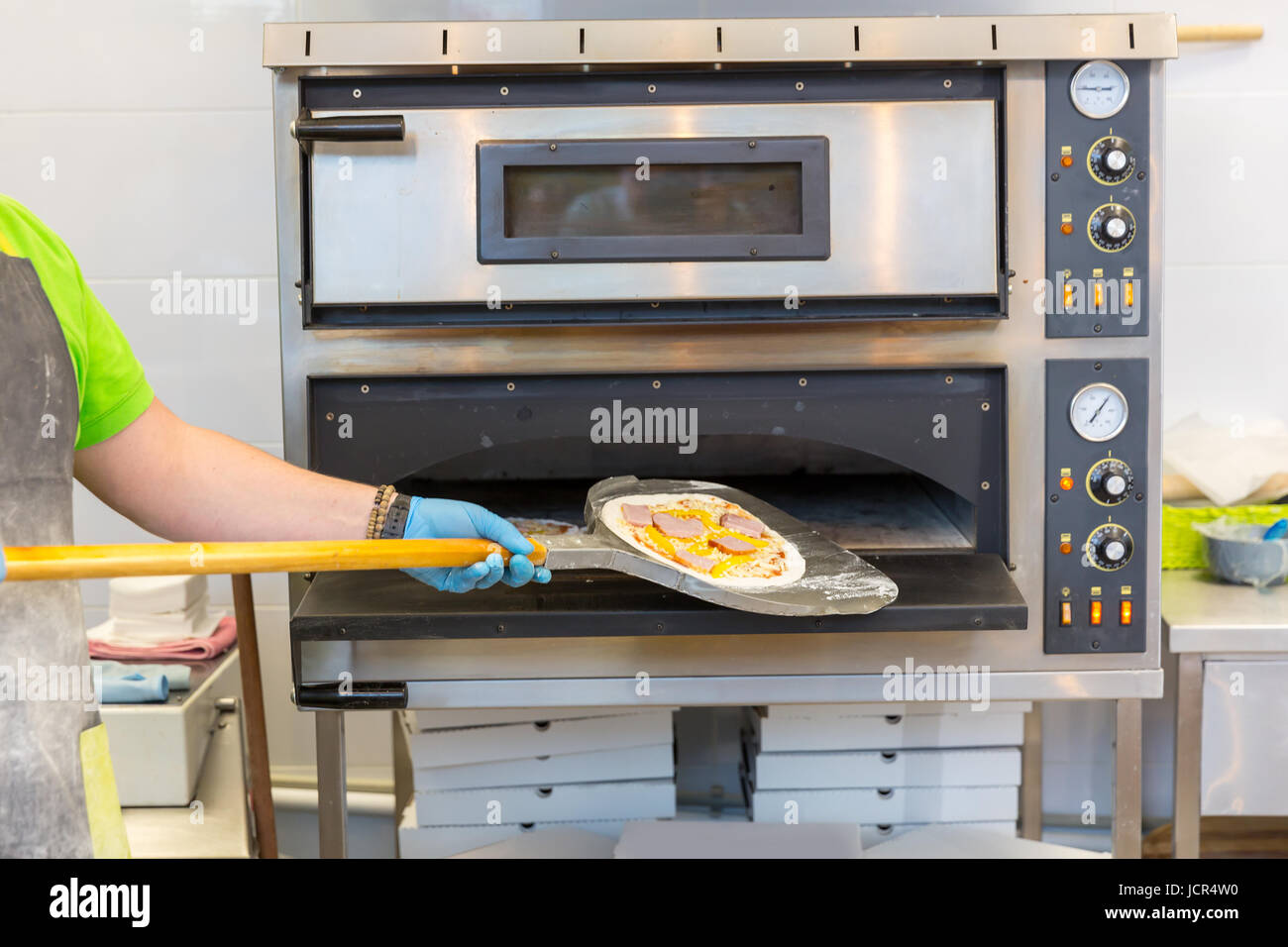 Baker Hands With Shovel, Cooking Pizza, Electric Ovens