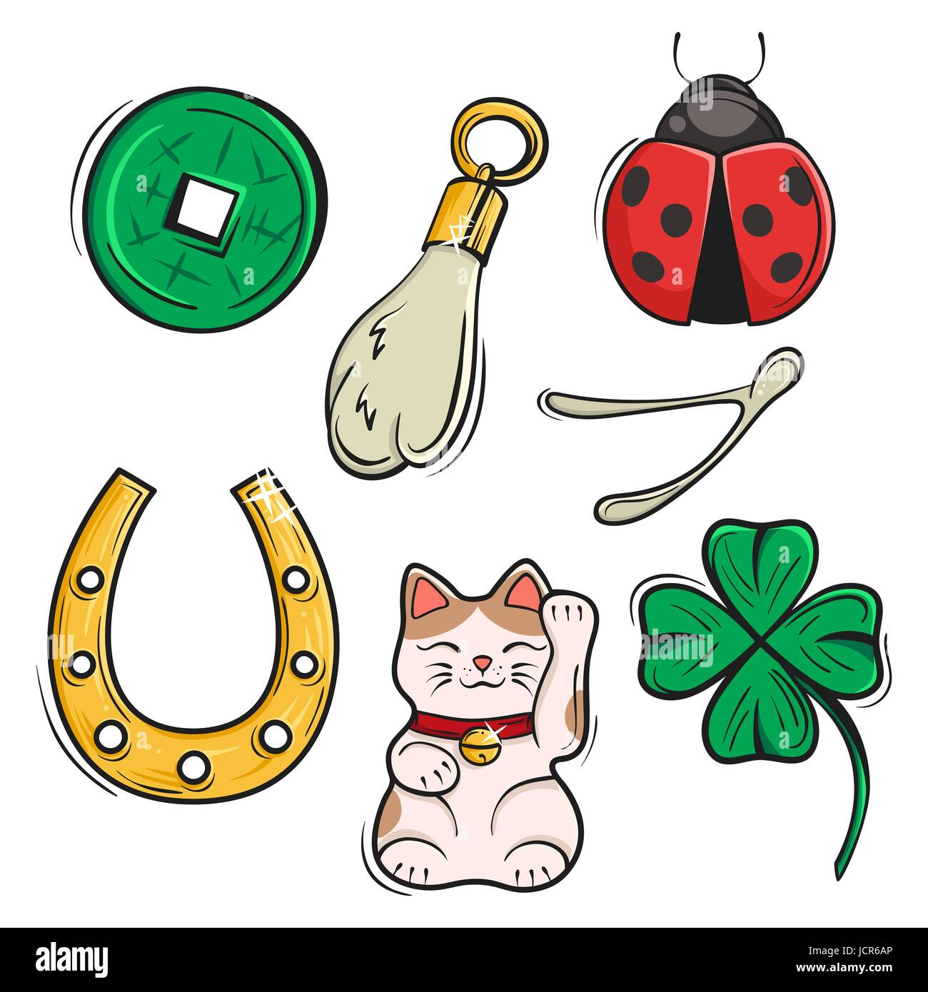 Vector set of lucky charms symbols and talismans vector stock vector set of lucky charms symbols and talismans vector illustration symbols of luck prosperity and success biocorpaavc Image collections