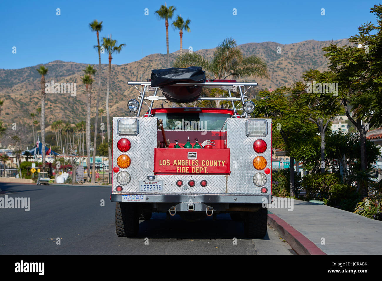 Los Angeles County Fire Department Truck Parked In Avalon - Avalon truck
