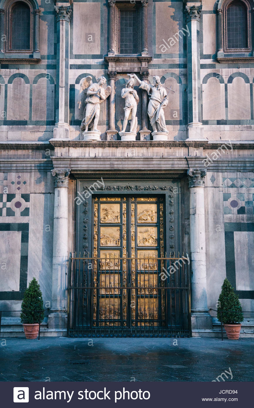 The Gates of Paradise doors on the Baptistery of Saint John & The Gates of Paradise doors on the Baptistery of Saint John Stock ...