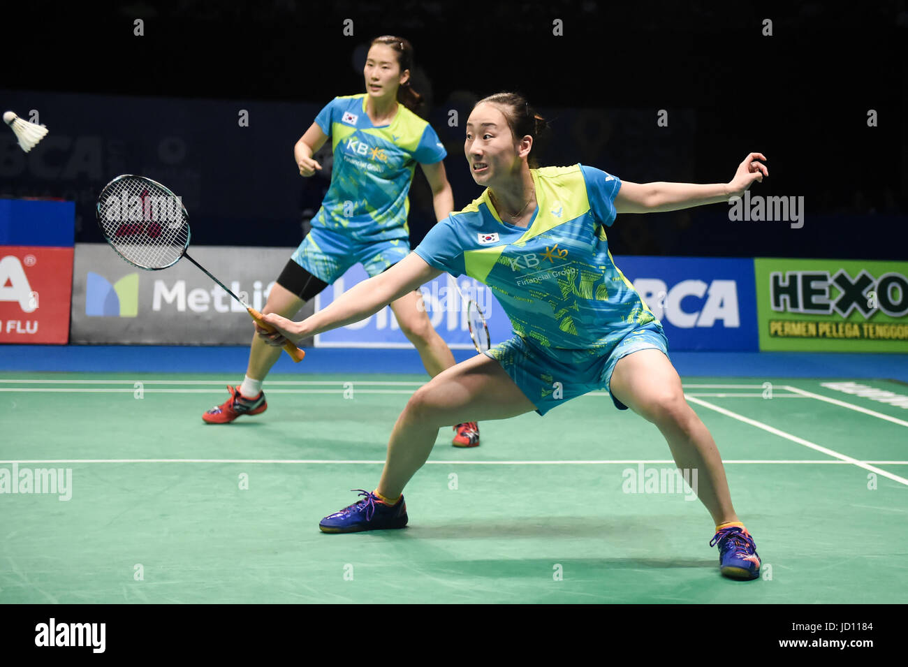 Jakarta Indonesia 18th June 2017 Lee So Hee R and Chang Ye
