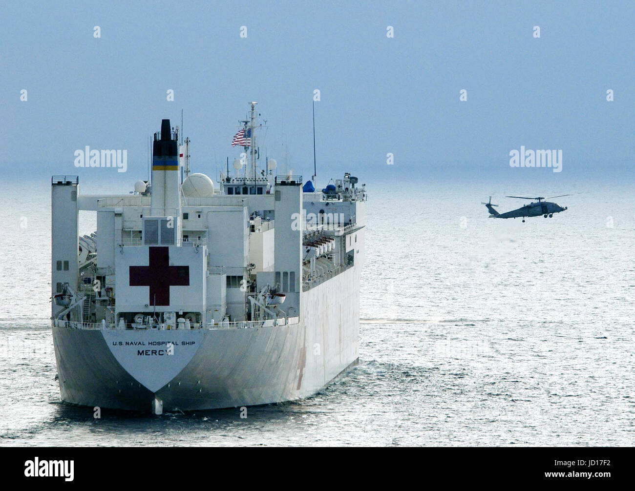 The hospital ship usns mercy t ah 19 arrives on station near the hospital ship usns mercy t ah 19 arrives on station near banda aceh sumatra indonesia to continue us military humanitarian assistance and relief stopboris Images
