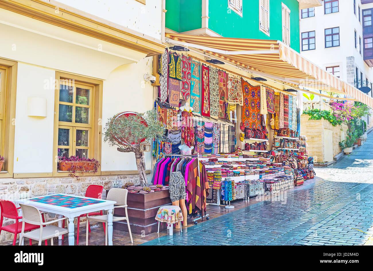 Stock Photo The souvenir stores of