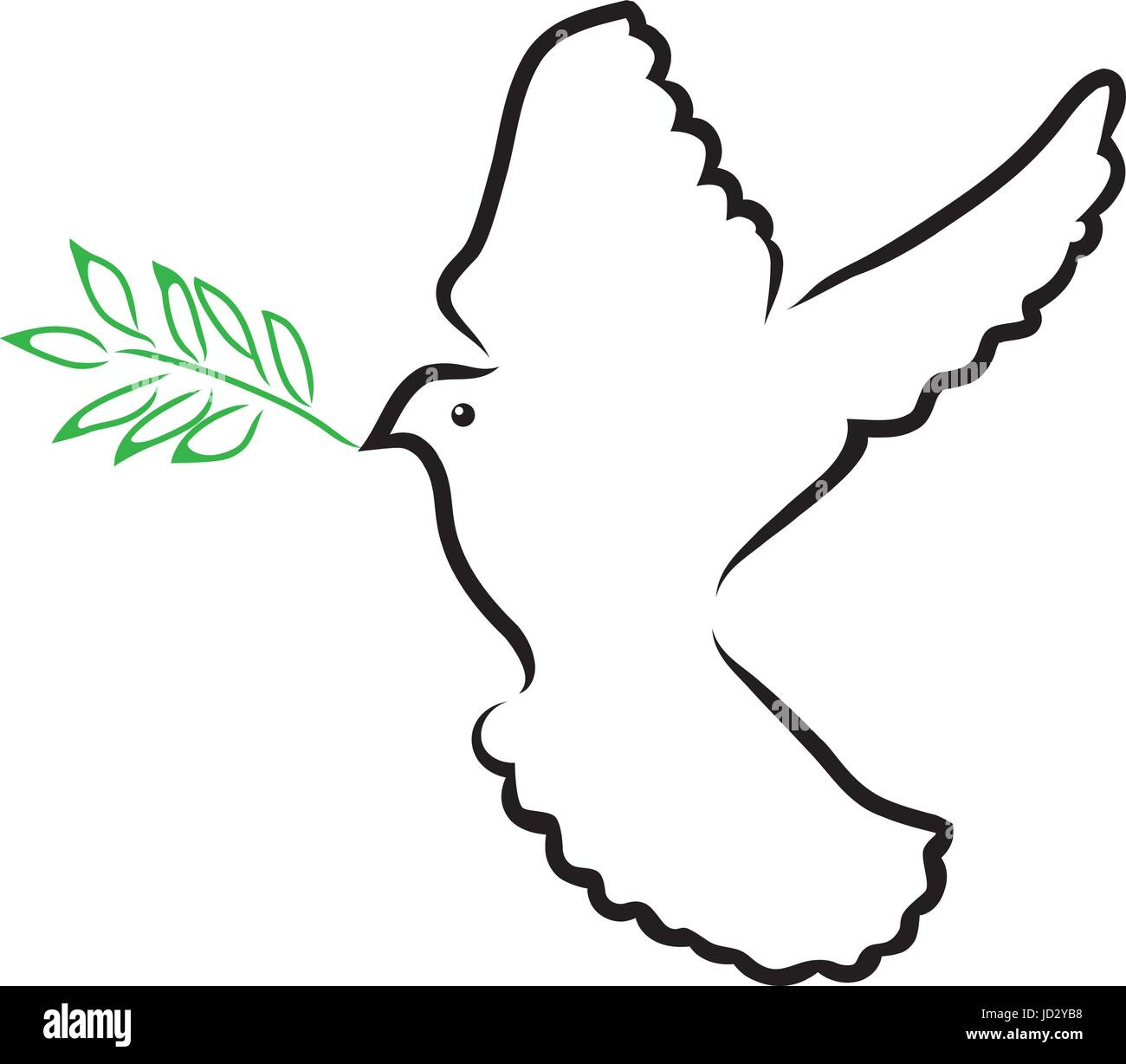 Peace Dove Symbol Outline Digitalspacefo