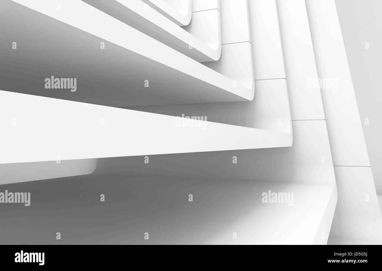 Curved Architecture White Abstract Modern Architecture Background Curved Stairs Stock