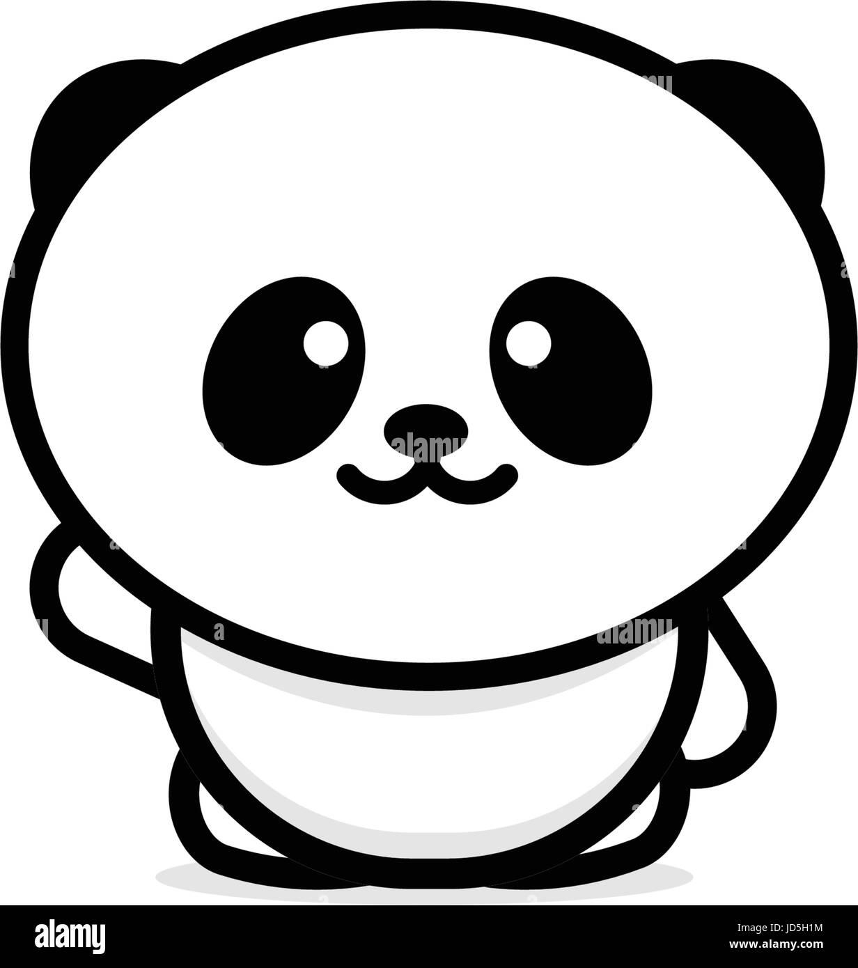 Cute panda welcomes waving his hand vector illustration baby bear cute panda welcomes waving his hand vector illustration baby bear logo new design line art chinese teddy bear black color sign simple image pictu buycottarizona