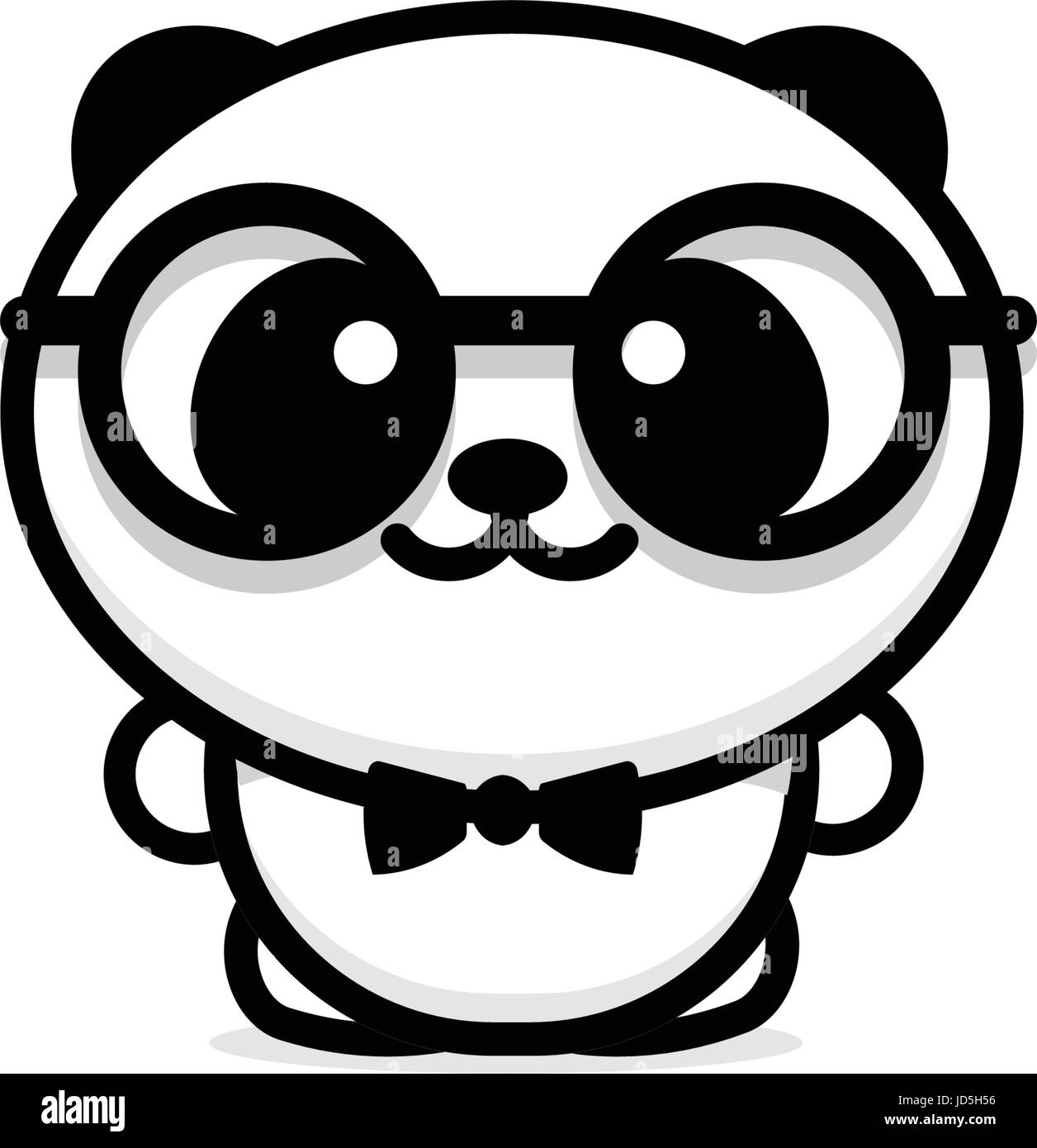 Cute panda with glasses and butterfly vector illustration baby cute panda with glasses and butterfly vector illustration baby bear logo new design line art chinese teddy bear black color sign simple image pic buycottarizona