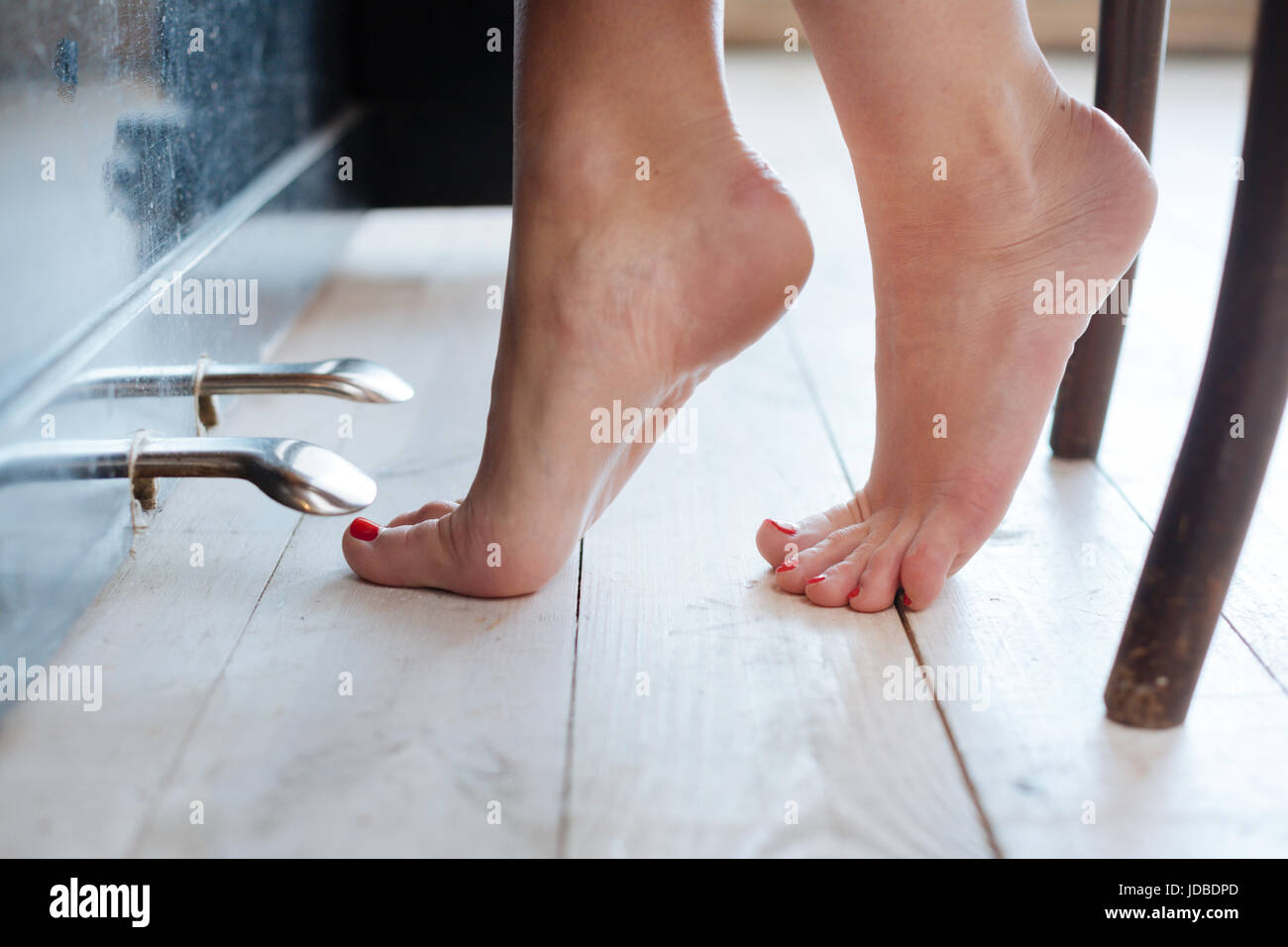 Close up of female feet at piano foot pedals Stock Photo ...