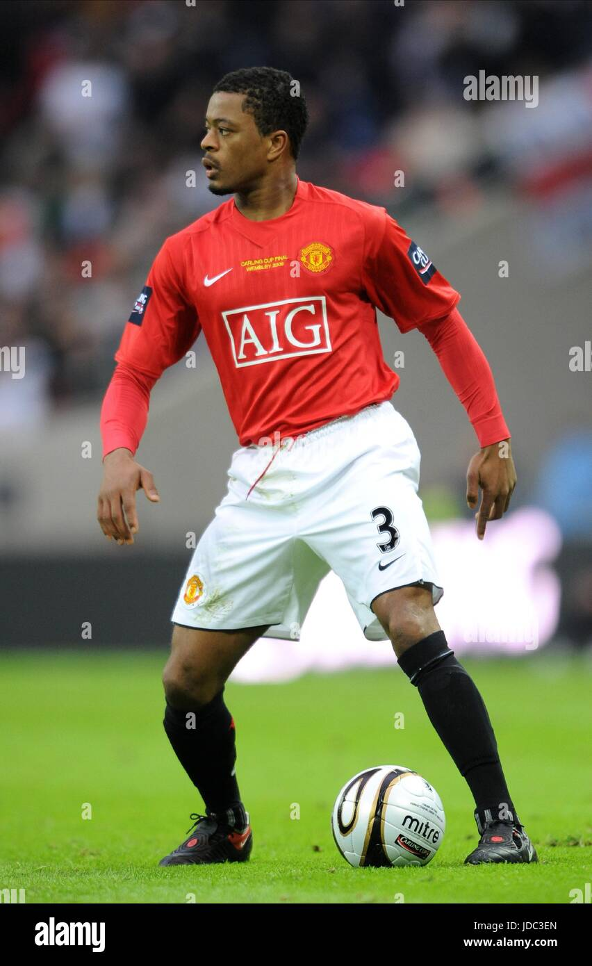 PATRICE EVRA MANCHESTER UNITED FC WEMBLEY STADIUM LONDON ENGLAND