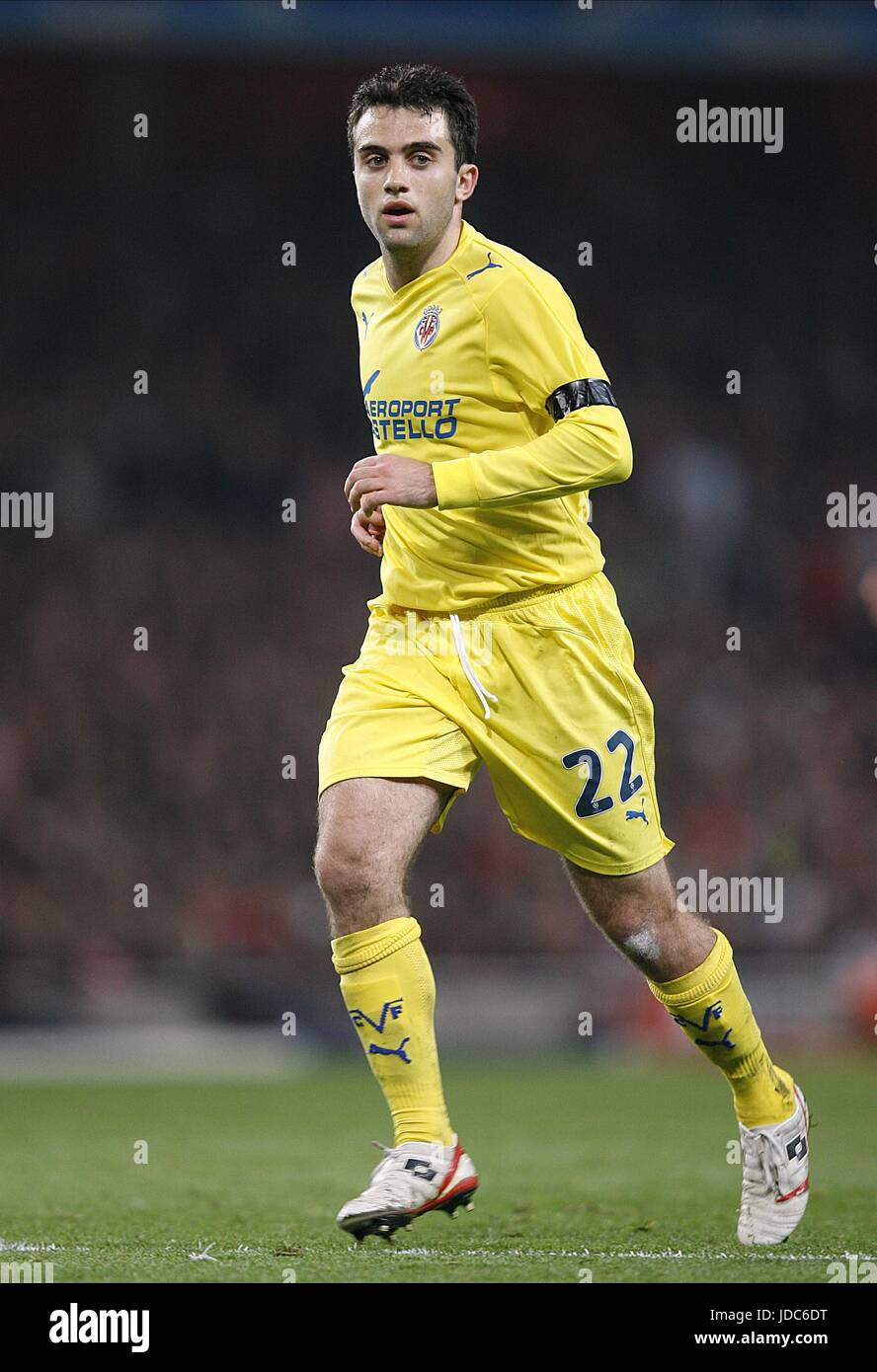 GIUSEPPE ROSSI ARSENAL V VILLARREAL CL QF 2ND EMIRATES STADIUM