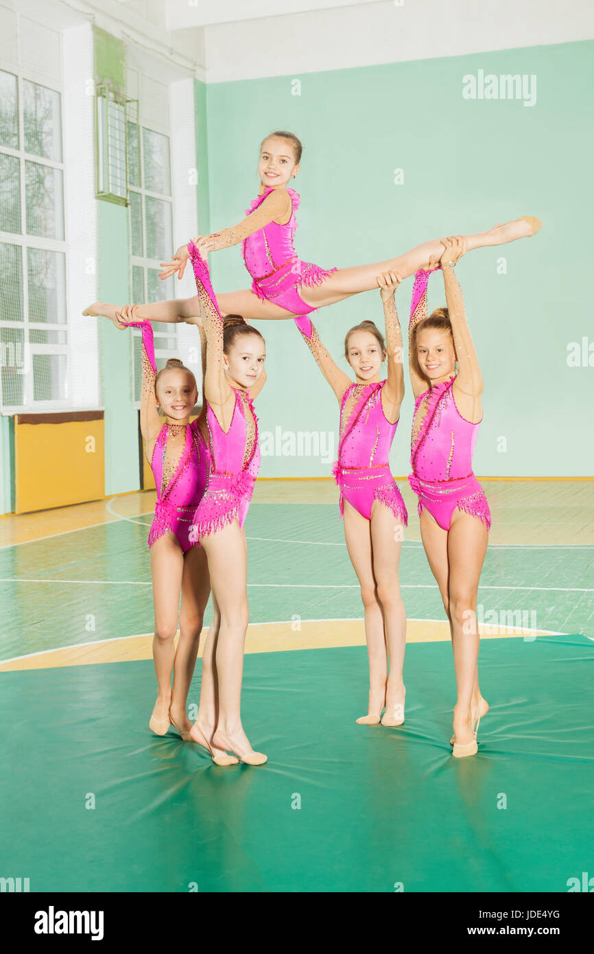 Young nude gymnasts