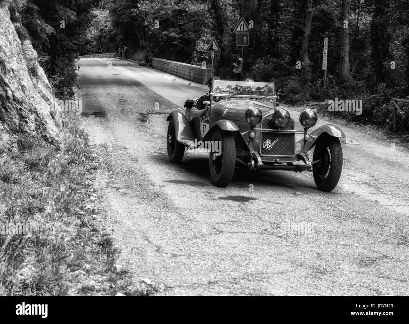 ALFA ROMEO 6C 1750 GRAN SPORT 1930 on an old racing car in rally ...