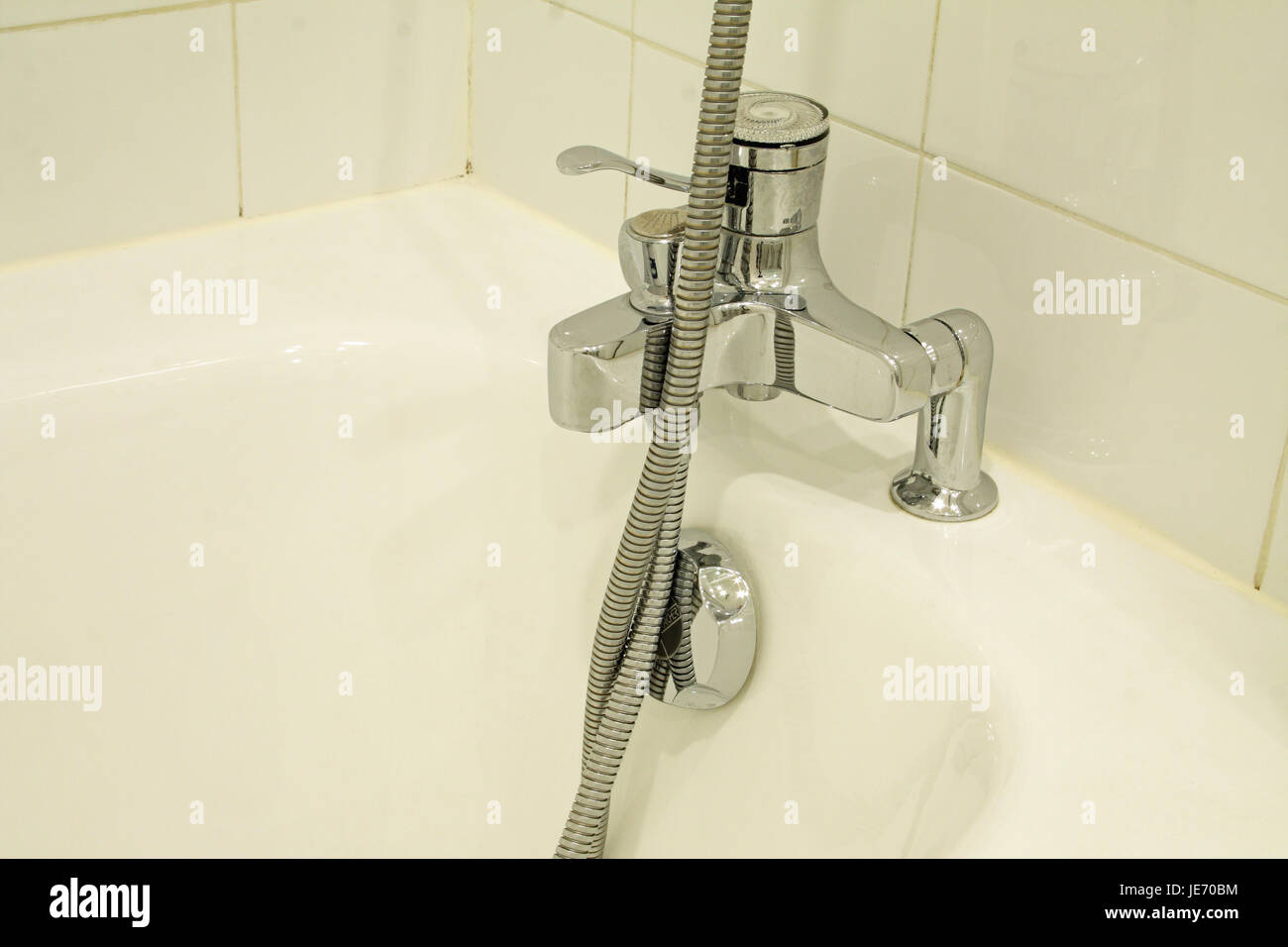 Bath, tap and shower hose Stock Photo, Royalty Free Image ...